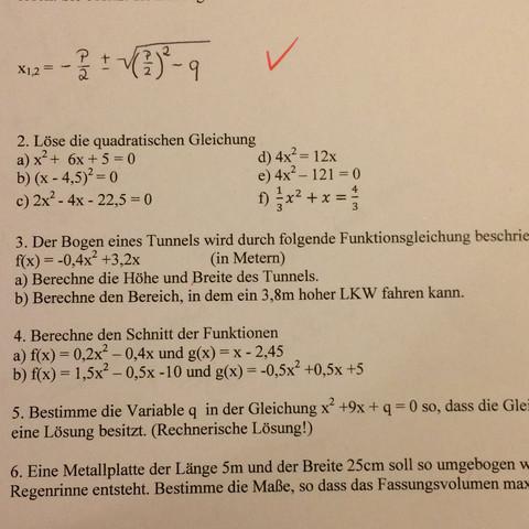 Mathe Aufgabe 9. klasse Hilfe bitte? (Schule, 9.Klasse ...