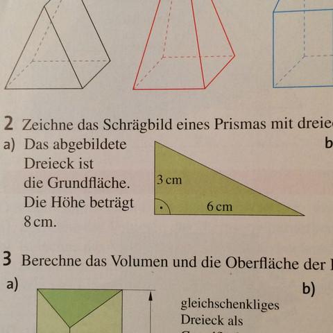 Formel fur den mantel eines prismas