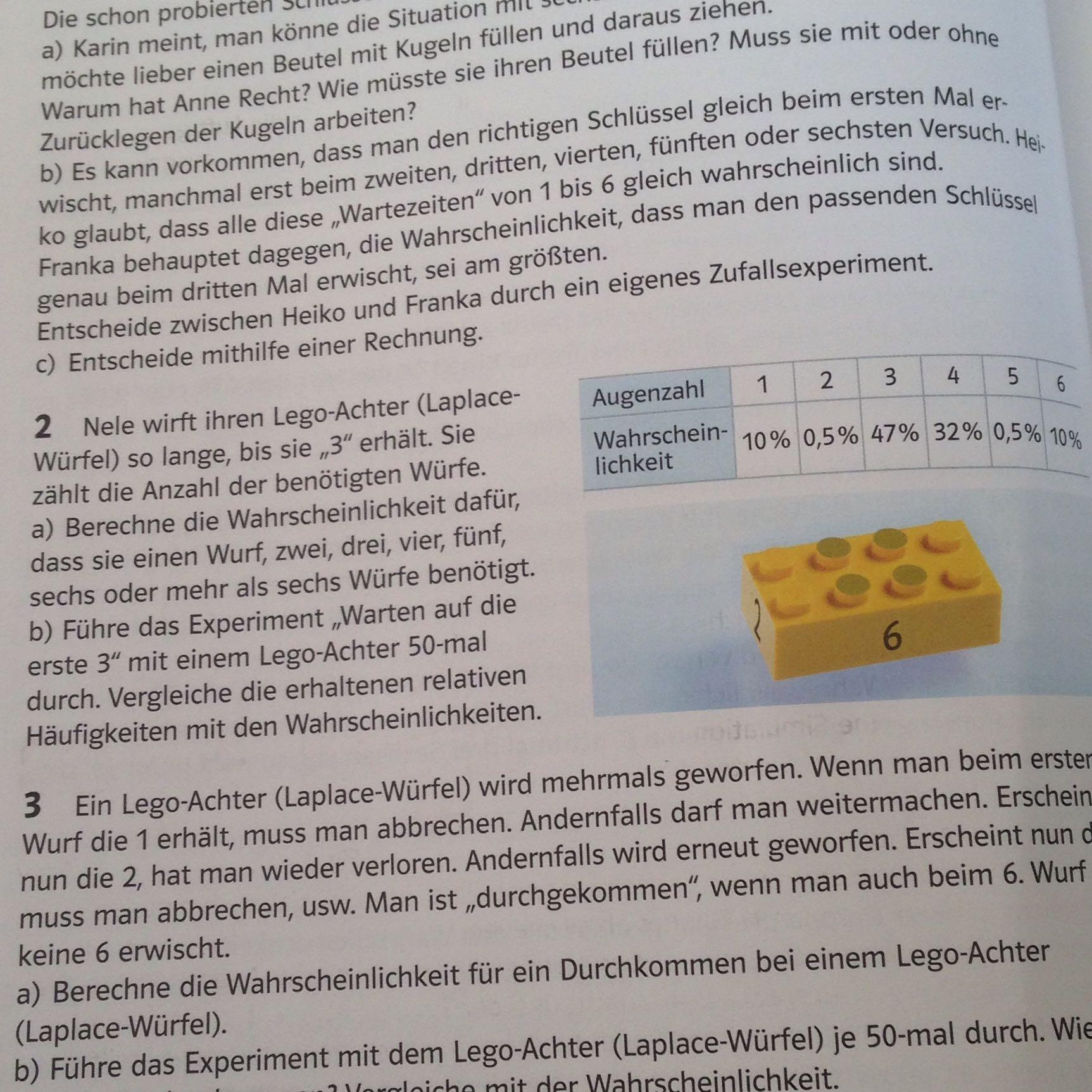 Wunderbar Wahrscheinlichkeit Arbeitsblatt Mit Antworten Bilder ...