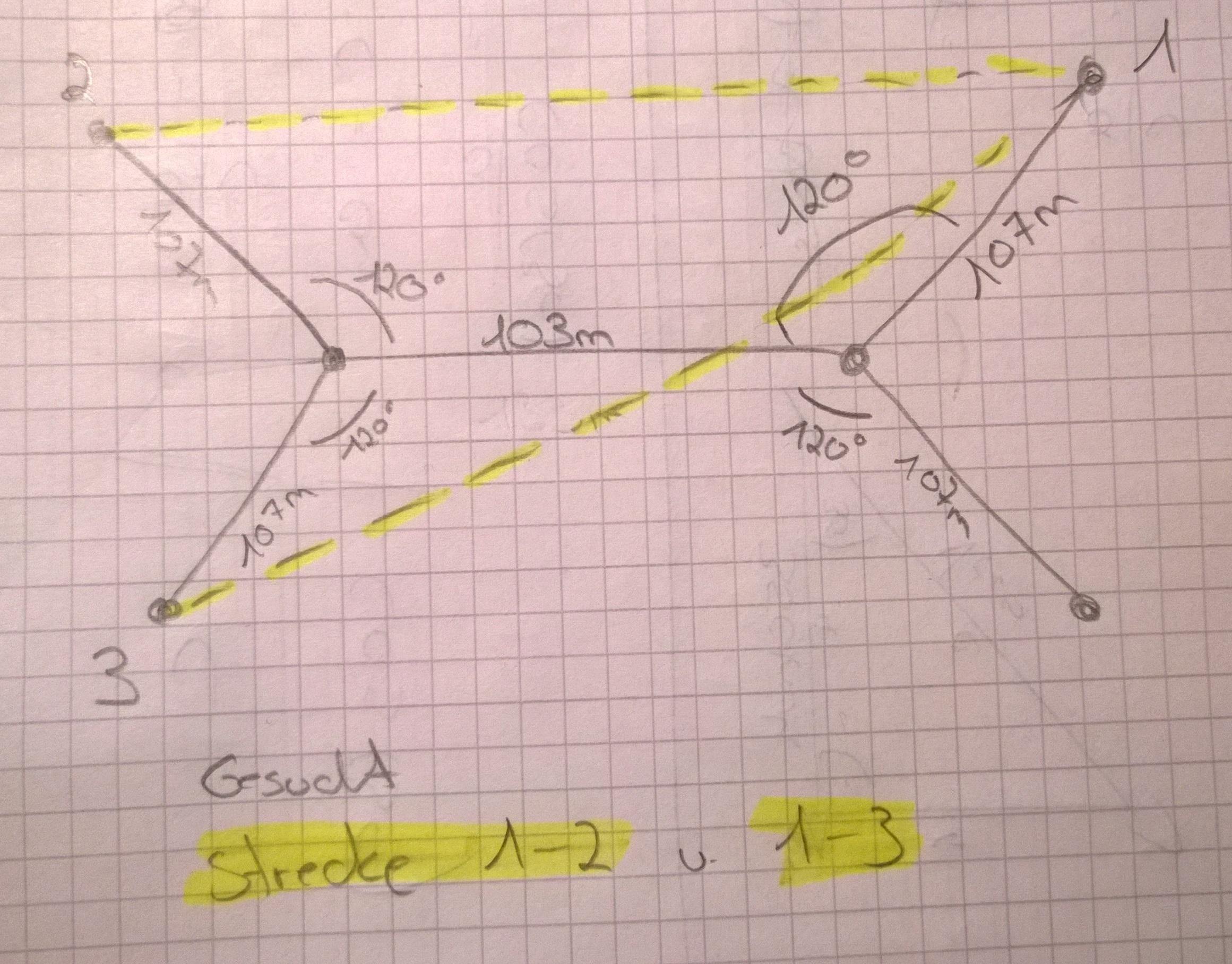 mathe aufgabe wie berechne ich folgende strecken mit sinus cosinus und tangens die aufgabe ist. Black Bedroom Furniture Sets. Home Design Ideas