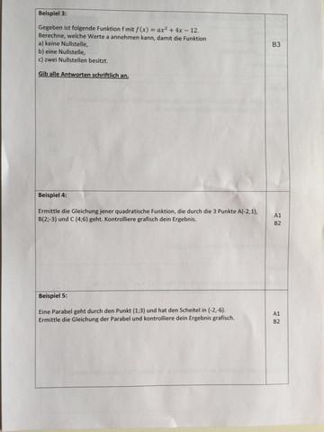 Beispiel 1 - (Mathe, Parabel, Nullstellen)