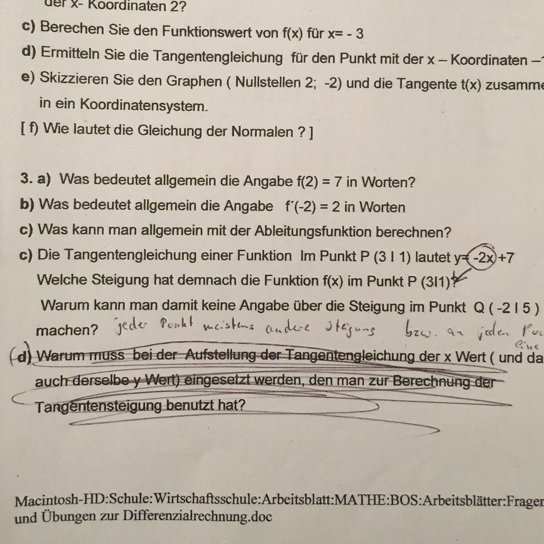 Charmant 7Klasse In Mathe Steigung Arbeitsblatt Galerie - Mathe ...