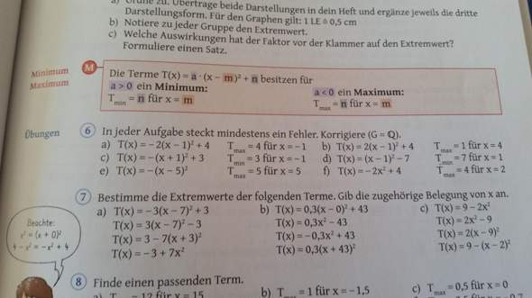 Mathe: Extremwerte quadratischer Terme?