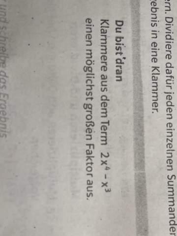 Mathe Faktor ausklammern?