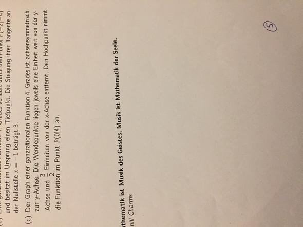 Hilfe komme nicht weiter (steckbriefaufgabe/funktionssynthese ...