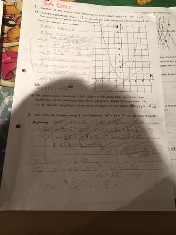 Aufgabe 1, wie löse ich diese? Danke schoneinamp - (Mathe, Parabel, Quadratsiche2)
