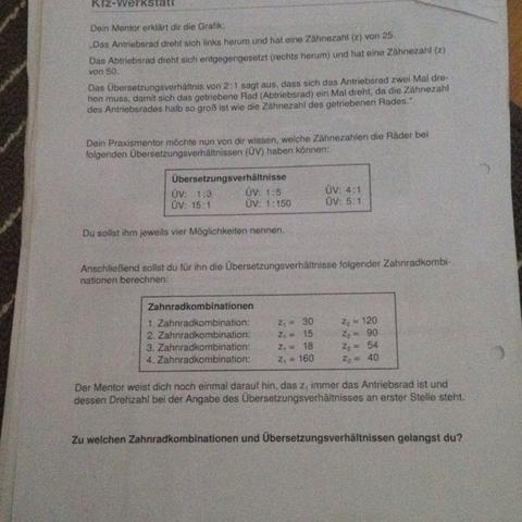 Wie berechnet man die Übersetzungsverhältnisse bzw. Die zahnradkombination ? - (Schule, Mathe, Mathematik)