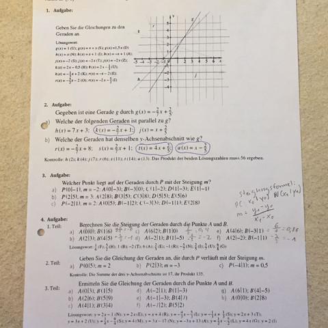 Mathe Hilfe Bitte Hilfe? (lineare funktionen)