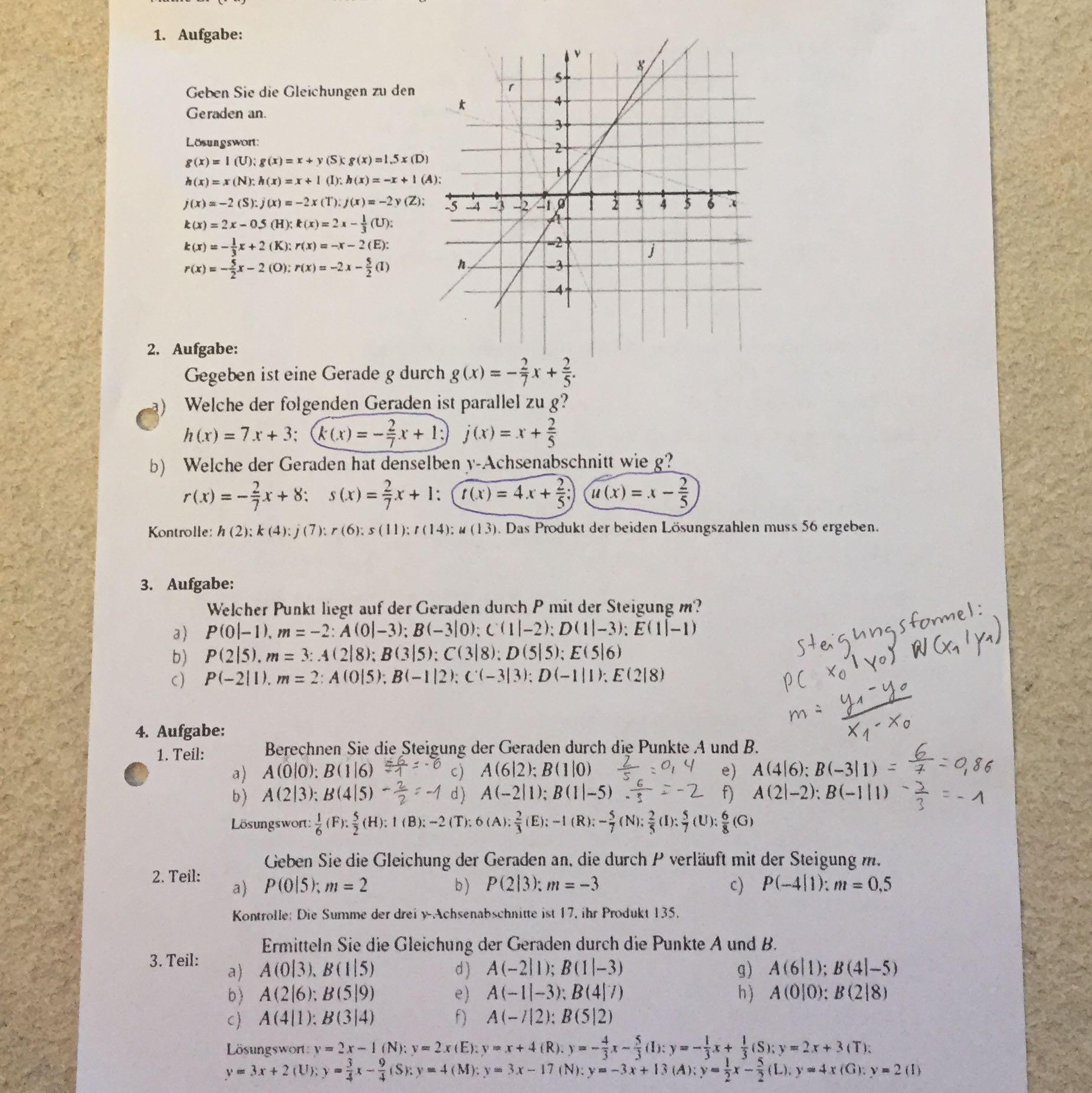 Schön Math Hilfen Arbeitsblatt Antworten Bilder - Super Lehrer ...
