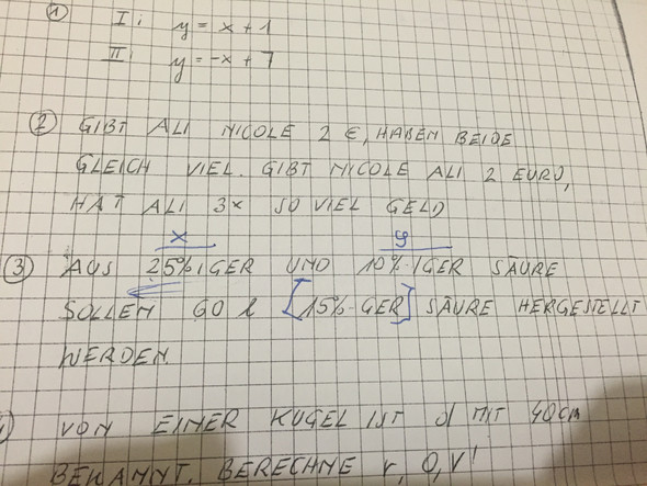 Aufgabe 2 & 3 - (Mathe, Textgleichung)