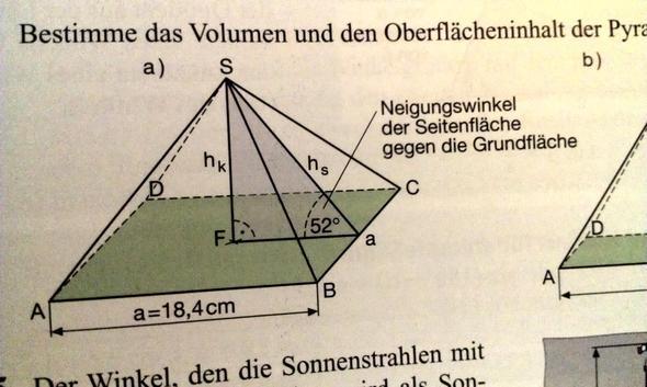 mathe hilfe trigonometrie volumen und fl che von. Black Bedroom Furniture Sets. Home Design Ideas