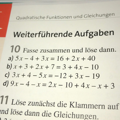Gleichungen Mathe Kurs  - (Schule, Mathe, Mathematik)