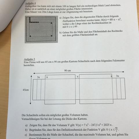 Die Aufgaben  - (Schule, Mathe, lk)