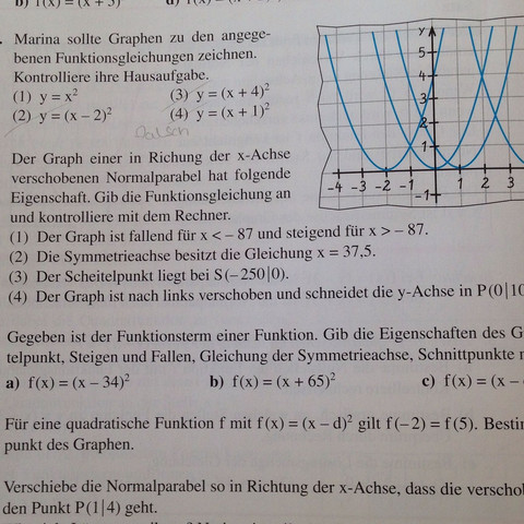 Nummer 8! Was bedeutend diese drei Sachen auf Bezug dieser Aufgabe  - (Mathe, Mathematik, Aufgabe)