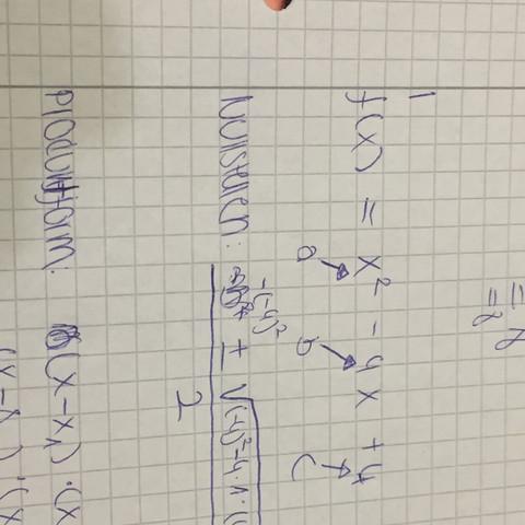 So habe ich es versucht  - (Mathe, Mathematik, Parabel)