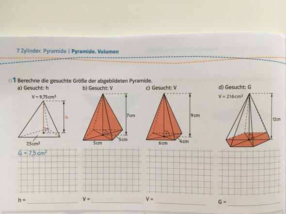 Mathe Pyramiden berechnen?