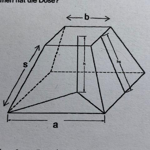 Mathe Pyramidenstumpf Körperberechnung?