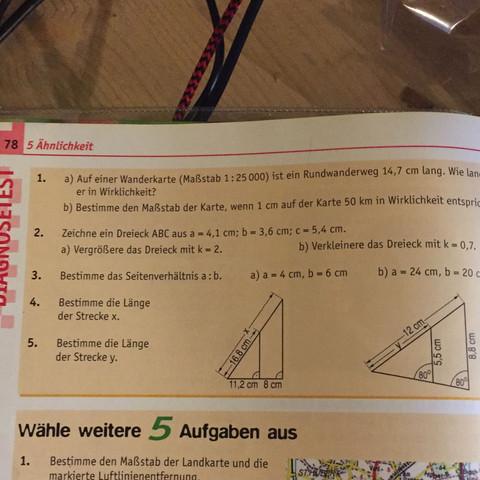 Aufgabe 3) ist das. - (Mathe, Dreieck, Verhältnis)