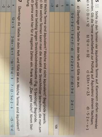 Mathe Tabelle Äquivalenz?