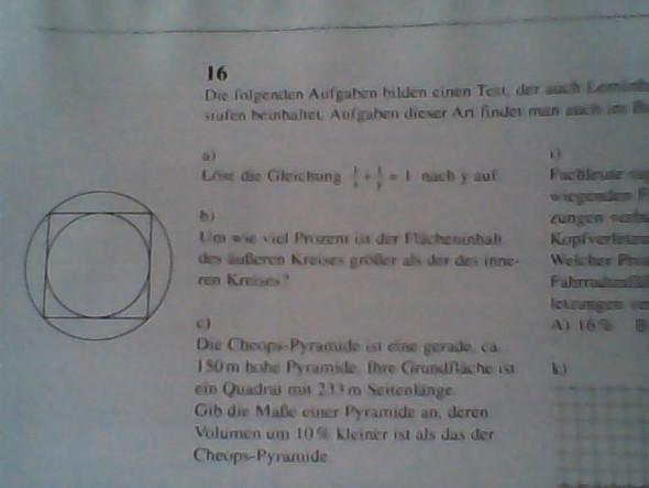 Die Aufgabe b mit Abbildung - (Schule, Mathematik, Intelligenz)