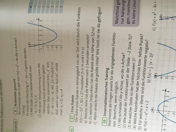 Matheaufgabe zu Quadratischen Funktionen?