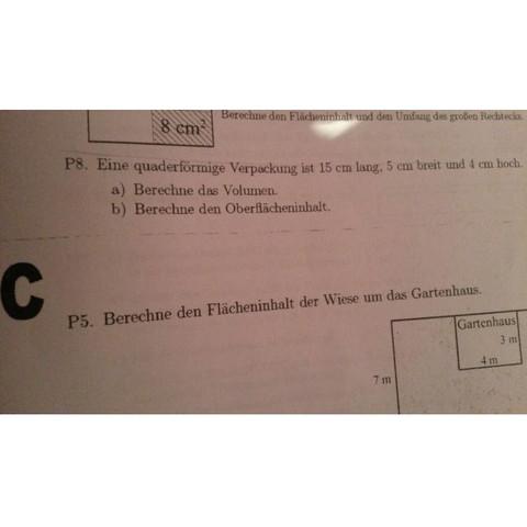 Mathematik - (Schule, Mathematik, Volumen)