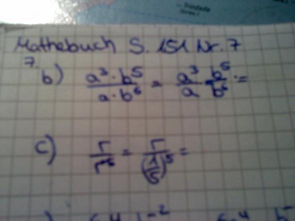 Nr. 7 b), c) - (Mathe, Mathematik, potenz)