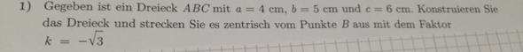 Aufgabe - (Mathe, zentrische Streckung)