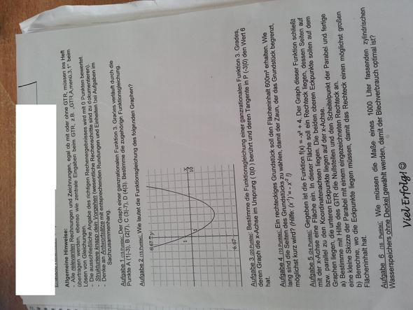 Die Probeklausur - (Schule, Mathematik)