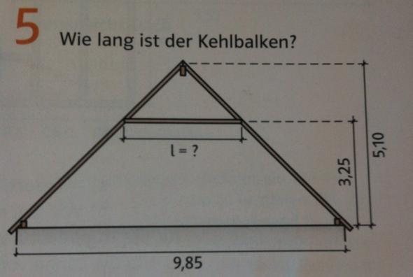Aufgabe 5 - (Mathematik, Kehlbalken)