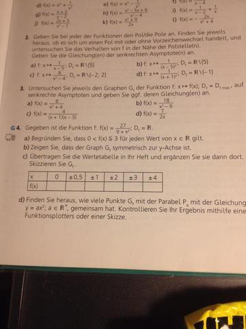 Aufgabe Gerochenrationale Funktionen - (Schule, Mathematik, Funktion)