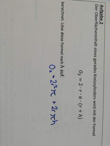Mathematik Formel auflösen?
