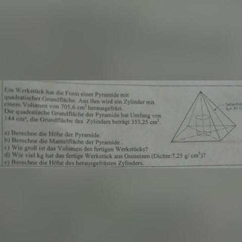 Hier die Aufgabe.  - (Schule, Mathe, Mathematik)