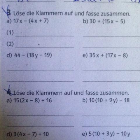 Mathematik Klammer auflösen und rechnen  - (Mathe, matik)
