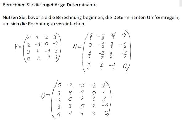 Mathematik/ Matrizen: Umformregeln bei Determinanten - ist es sinnvoll, hier welche anzuwenden?