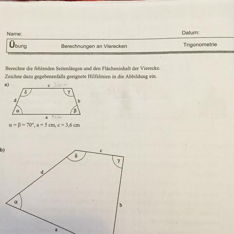 Mathe, Atrapez - (Mathe, Trigonometrie, Trapez)