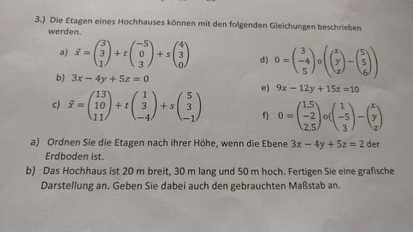 Die Aufgabe.. - (Mathematik, Oberstufe, vektoren)