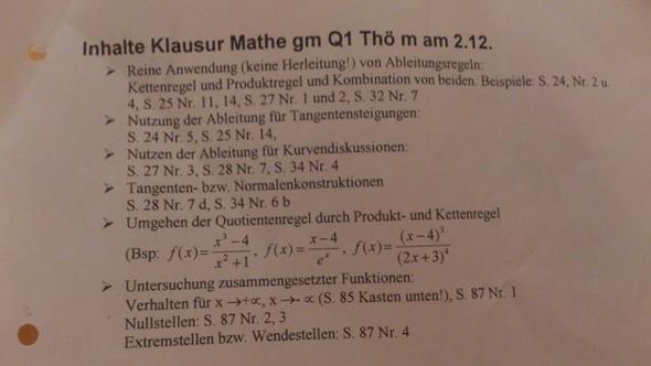 Klausur - (Mathematik, Nachhilfe)