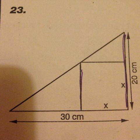 Ich weiß dass sich 30zu20 wie 30-xzux verhält. - (Schule, Mathe, Mathematik)