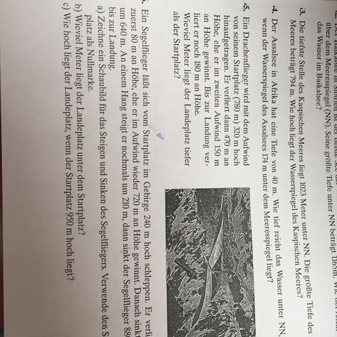 Aufgaben zum Kaspischen Meer - (Mathe, Lösungsweg, wasserspiegel)