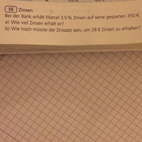 Lösung für a :8,75€  Für b:8%  Ich will echt wissen wie das geht. Vielen Dank - (Mathe, Mathematik, Rechnung)
