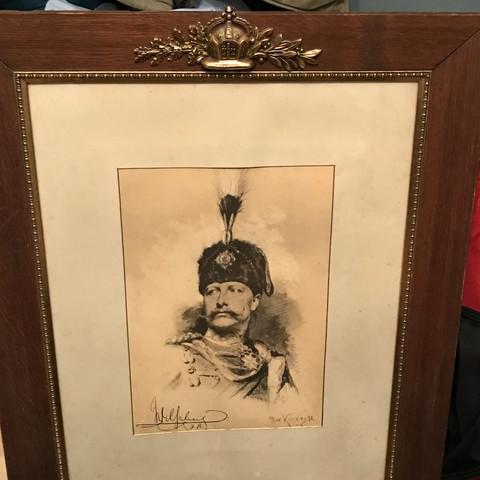 Bild von Max Koner mit Unterschrift von Kaiser Wilhem den zweiten  - (Kunst, Malerei, Gemälde)
