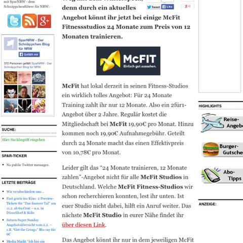 Mc fiit - (Krafttraining, McFit)