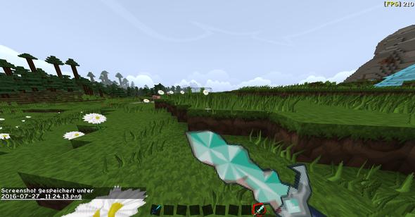 Zur hälfte kaputtes Diamantschwert (Die Textur soll weg >_<) - (Minecraft, texturepack, optifine)