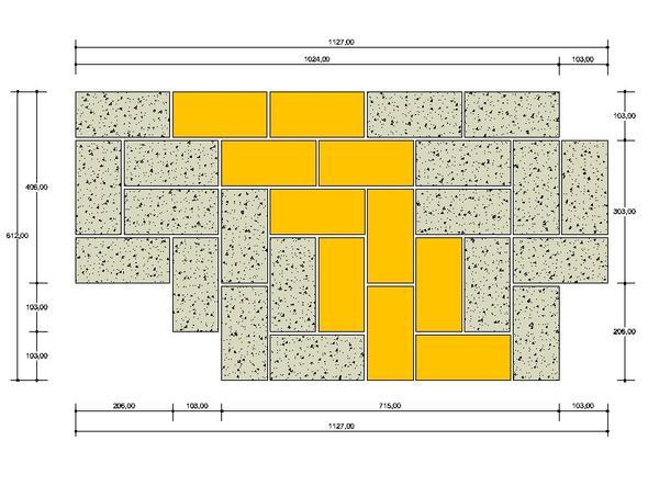 Platte in Form geschnitten mit geklebte Basaltplatten - (Tischler, MDF, Basalt)