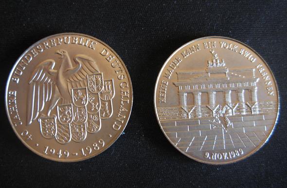 Medaille Deutsche Einheit 1949 1989 Münzen