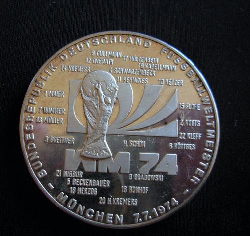 Fussball WM-Vorderseite - (Fußball, WM-Medaille 1974)