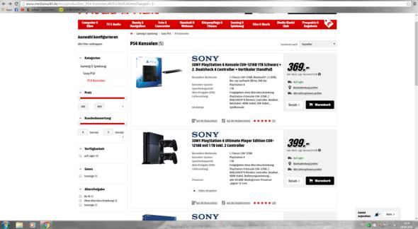 Die Angebote im Onlineshop von Media Markt - (Konsolen, Sony, Media Markt)