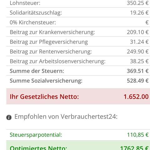 Gehalt 3000 gutes euro netto Lohn eines