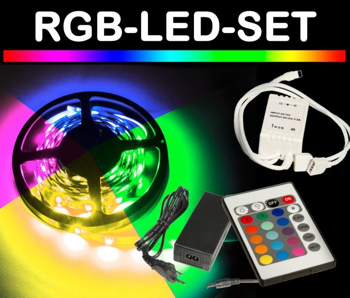 mehrere led stripes mit fernbedienung aber unterschiedliche farben geht das rgb strip. Black Bedroom Furniture Sets. Home Design Ideas